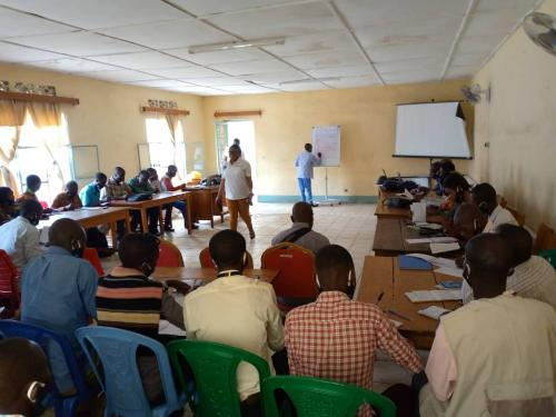 During training session with School teachers from 20 School partners in the Fizi territory, South Kivu Province
